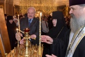 В праздник Рождества Христова Президент Республики Беларусь посетил Елисаветинский монастырь в Минске