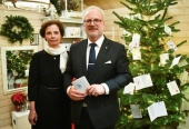 Поздравление Президента Латвийской Республики Эгилса Левитса с праздником Рождества Христова