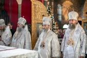 Блаженнейший митрополит Киевский Онуфрий в праздник Рождества Христова возглавил Литургию в Киево-Печерской лавре