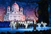 Святейший Патриарх Кирилл посетил Рождественскую елку в Храме Христа Спасителя в Москве