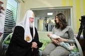 В праздник Рождества Христова Святейший Патриарх Кирилл посетил детскую больницу святого Владимира в Москве