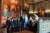 Поздравление Председателя Правительства РФ Д.А. Медведева Святейшему Патриарху Кириллу с праздником Рождества Христова