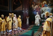 On the Nativity day the Primate of the Russian Church celebrated Great Compline at the Church of Christ the Saviour