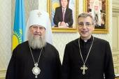 Состоялась встреча главы Казахстанского митрополичьего округа с председателем Конференции католических епископов Казахстана