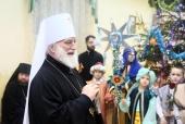 Патриарший экзарх всея Беларуси посетил Рождественскую елку для детей с ограниченными возможностями