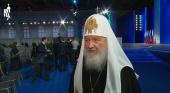 Святейший Патриарх Кирилл прокомментировал послание В.В. Путина Федеральному Собранию РФ