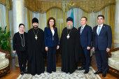 Состоялась встреча главы Казахстанского митрополичьего округа с председателем Сената Парламента Республики Казахстан