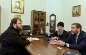 Председатель Финансово-хозяйственного управления провел рабочую встречу с главой Мордовской митрополии