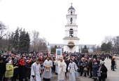 В праздник Крещения Господня Предстоятель Православной Церкви Молдовы совершил Литургию и чин великого освящения воды в соборе Рождества Христова в Кишиневе