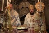 Митрополит Волоколамский Иларион совершил Литургию на Гробе Господнем