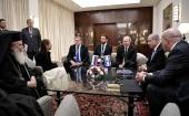 Патриарх Иерусалимский Феофил принял участие во встрече В.В. Путина с матерью осужденной в России гражданки Израиля