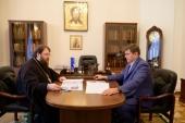 Председатель Финансово-хозяйственного управления Московского Патриархата встретился с руководителем Департамента культурного наследия города Москвы