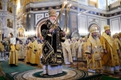 Divine Liturgy celebrated at the Cathedral of Christ the Saviour on the 11th anniversary of enthronement of His Holiness Patriarch Kirill