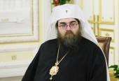His Holiness Patriarch Kirill greets His Beatitude Metropolitan Rastislav with anniversary of his enthronement