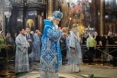 В канун праздника Сретения Господня Святейший Патриарх Кирилл совершил всенощное бдение в Храме Христа Спасителя