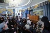 Первый заместитель председателя Синодального отдела по взаимоотношениям Церкви с обществом и СМИ встретился со студентами Ставропольской семинарии