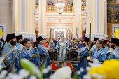 В праздник Сретения Господня глава Казахстанского митрополичьего округа совершил Литургию в кафедральном соборе Алма-Аты