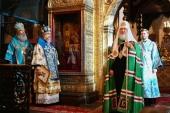 Патриаршая проповедь в праздник Сретения Господня после Литургии в Успенском соборе Московского Кремля