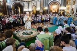 В Неделю о блудном сыне Святейший Патриарх Кирилл совершил Литургию в Храме Христа Спасителя