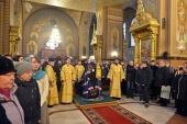 Митрополит Волоколамский Иларион совершил Литургию в Спасо-Преображенском соборе Николо-Угрешского монастыря
