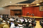 Metropolitan Hilarion of Volokolamsk delivers a lecture at the University of Belgrade