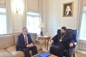 Metropolitan Hilarion of Volokolamsk meets with Russia's Ambassador to Egypt