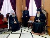 Митрополит Екатеринбургский Кирилл встретился с Блаженнейшим Патриархом Иерусалимским Феофилом