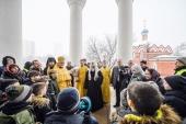 В Неделю о Страшном Суде Святейший Патриарх Кирилл совершил великое освящение храма Собора Московских святых в Бибиреве г. Москвы