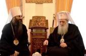 Святейший Патриарх Болгарский Неофит принял иерарха Украинской Православной Церкви