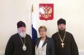 Председатель Синодального комитета по взаимодействию с казачеством встретился с руководителем Россотрудничества