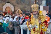 В Неделю сыропустную Предстоятель Украинской Православной Церкви возглавил Литургию в Киево-Печерской лавре