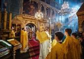 В Неделю сыропустную Святейший Патриарх Кирилл совершил Литургию в Успенском соборе Московского Кремля