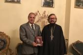 Руководитель сирийского отделения ИППО посетил Представительство Русской Православной Церкви в Дамаске
