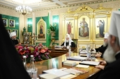 Patriarch Kirill presides over the first 2020 meeting of the Russian Orthodox Church Holy Synod