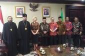 Патриарший экзарх Юго-Восточной Азии встретился с министром по делам религий Республики Индонезия