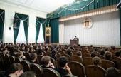 Состоялась встреча председателя Синодального отдела по церковной благотворительности и социальному служению со студентами МДА