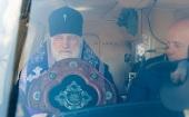 Патриарший экзарх всея Беларуси совершил во Всехсвятском храме Минска молебное пение во время губительного поветрия и возглавил воздушный крестный ход