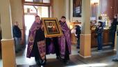 Коневская икона Богородицы и мощи прп. Арсения Коневского принесены в Выборг