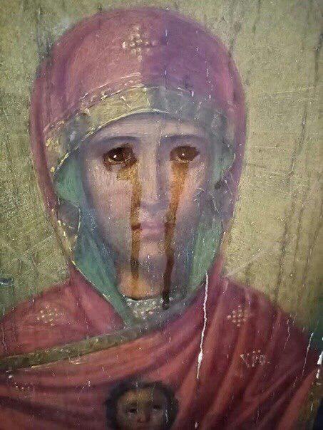 В Тульской епархии замироточила старинная икона Божией Матери «Знамение»