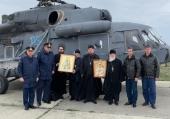 Крестный ход по воздуху совершен над территорией Ростовской области с чтимой Аксайской иконой Божией Матери