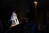 Утреня с чтением Великого покаянного канона преподобного Андрея Критского. Прямая трансляция из Храма Христа Спасителя