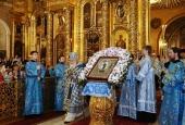 Прямая трансляция Патриаршего богослужения в канун Субботы Акафиста в Богоявленском кафедральном соборе в Елохове