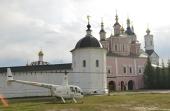 Над городом Брянском состоялся воздушный крестный ход со Свенской иконой Божией Матери