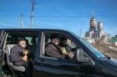 По улицам Искитима провезли святыни с молитвой об ограждении жителей от вредоносного поветрия
