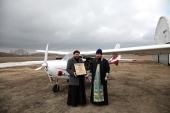Состоялся облет Омска с Казанской иконой Божией Матери