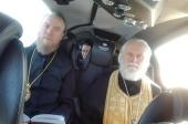 Митрополит Таллинский Евгений совершил воздушный крестный ход с молитвой об избавлении от коронавирусной инфекции