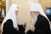 Святейший Патриарх Кирилл побеседовал по телефону с Блаженнейшим Митрополитом Американским и Канадским Тихоном