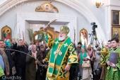 В праздник Входа Господня в Иерусалим Патриарший экзарх всея Беларуси совершил Литургию в Свято-Духовом кафедральном соборе Минска