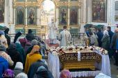 В Великую Субботу Патриарший экзарх всея Беларуси совершил Литургию в Свято-Духовом кафедральном соборе Минска