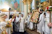 В праздник Светлого Христова Воскресения митрополит Рижский Александр возглавил богослужение в кафедральном соборе Рождества Христова г. Риги